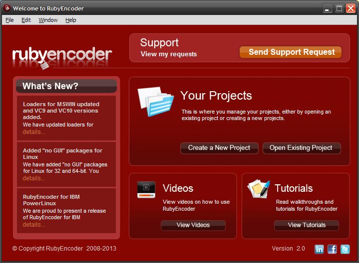 Ruby Encoder 2.0 Screen shot